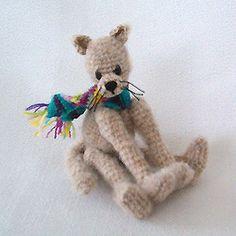 Miniature Kitty Cat Thread Crochet Pattern - Instant Download
