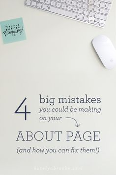4 big mistakes you c