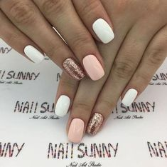 30 trendy glitter nail art design ideas for With glitter nails, brighten up your summer looks. trendy glitter nail art design ideas for With glitter nails, brighten up your summer looks. Glittery Nails, Sparkle Nails, Cute Acrylic Nails, Glitter Nail Art, Gold Glitter, White Gel Nails, White Nails With Glitter, Pink Gold Nails, White Summer Nails