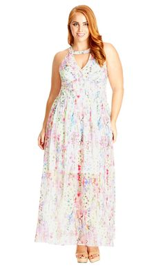 Plus Size Dreamy Floral Maxi Dress - City Chic