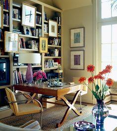 Office space in living room - for bills, homework, etc.