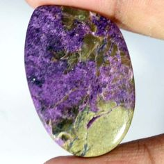 30.15cts. 100% Sultry Natural PURPLE PURPURITE FANCY CABOCHON LOOSE GEMSTONES #Handmade