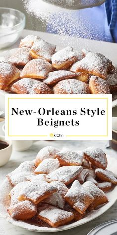 These easy New Orleans-style beignets will transport you right to the French Quarter. French Quarter, New Orleans, Donuts, Drop Biscuits, Mets, Snacks, Vegan, Baked Goods, Cooking Recipes