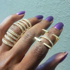 FROSTED KNUCKLE RING... Pictured on the left, available in silver only. Get yours online at www.fabfrosting.com. #putaringonit