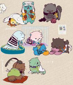 ポメラニアンちょっと増えましたので②になりました Touken Ranbu, Game Character, Character Design, Susanoo, Chibi Characters, Japanese Sword, Manga Games, I Love Anime, Manga Drawing