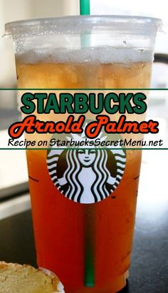 Arnold Palmer Try this  version of a classic beverage, the Arnold Palmer!  this  version of a classic beverage, the Arnold Palmer! Starbucks Secret Menu Teas, Starbucks Tea, Healthy Starbucks, Starbucks Recipes, Coffee Recipes, Drink Recipes, Starbucks Hacks, Starbucks Frappuccino, Copycat Recipes