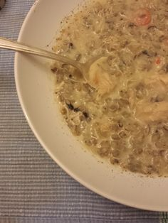 Chicken and Wild Rice Soup: Simply putting a few ingredients in the slow cooker and when you come home at the end of the day, you have fabulous chicken wild rice soup that will become a family favorite. Rich tasting flavor that warms you in this winter season. #31MasselSoups