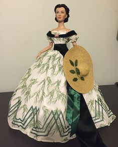 Tonner Doll gone with the wind lost barbecue Scarlett o'hara based on an unused costume sketch