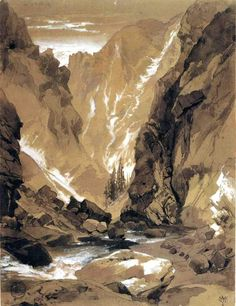 Toltec Gorge, Colorado by Thomas Moran
