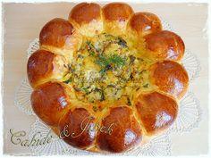 Ayçiçeği Pizza / Çiçek Çörek