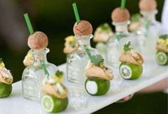 Want to avoid the monotony of wedding season? Check out these hilarious and clever ways couples made their wedding guests smile. Tequila shots!  In case the cookies aren't enough. The best part? A MINI-TACO CHASER. Yes, this is real. >> pre reception/Mrs/Mr entrance (obvi) etc.