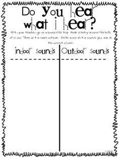 Light and sound unit : do you hear what I hear? {sound field trip around the school}