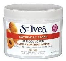 St.ives Apricot Scrub Nat Clr Size: 10 Oz by ALBERTO CULVER INC. $2.99. Contains 100% Natural Exfoliants and Salicylic Acid.. Oil-free Formula that won't dry your Face or Clog Pores.. Gently Exfoliates, Removing Oil, Dirt and Dead Skin Cells.. ST.IVES APRICOT SCRUB NAT CLR Size: 10 OZ
