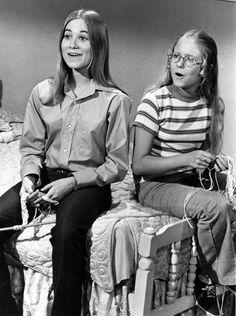 """Jan and Marcia Brady -- """"The Brady Bunch,"""" 1972"""