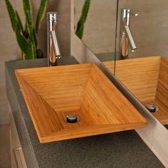 modernes Waschbecken aus Bambus
