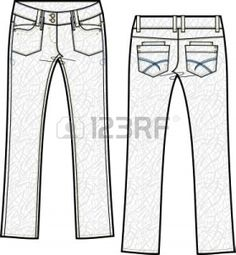 lady skinny denim jeans with crinkle effect photo