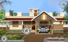 New Traditional Home One Story Simple & Small House Design Collection Simple House Plans, Simple House Design, House Front Design, Modern House Plans, Three Bedroom House Plan, House Plans One Story, Story House, Indian Home Design, Kerala House Design