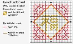 free cross stitch chart good luck