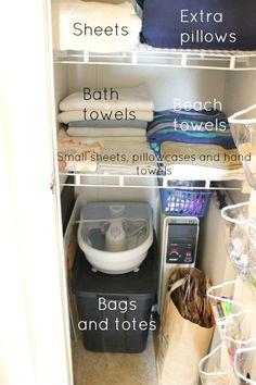 Organization: Linen Closet - Laura's Crafty Life