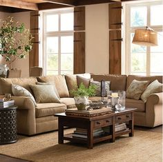 Pottery Barn - Love this color sofa