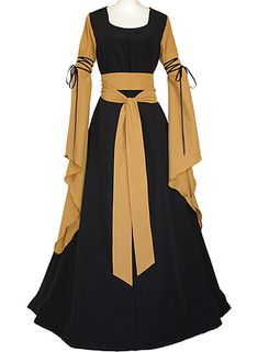 Hedwig Black-Saffron dornbluth.co.uk - medieval dresses