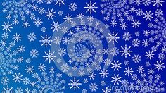 Winter Wallpaper with Fractal Snowflakes in Blue Background.