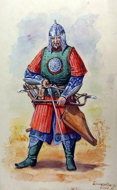 A tatar warrior from Kazan khanate, 1552