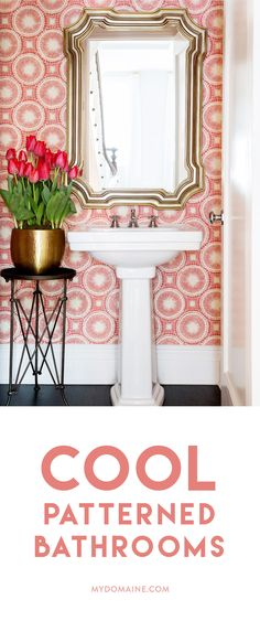 Make a statement in the bathroom with these fun ideas