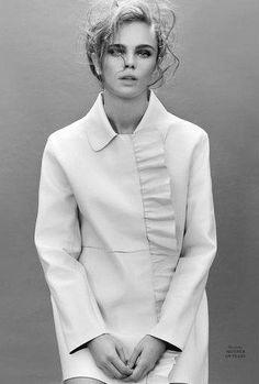 """In Black and White"" Jena Goldsack for L'Officiel Ukraine July 2016"