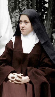 Thérèse is adorbs Sainte Therese De Lisieux, Ste Therese, Catholic Art, Catholic Saints, Bride Of Christ, Blessed Mother Mary, Most Beautiful Faces, Virgin Mary, Photos