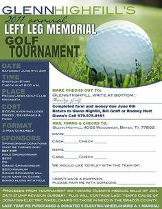 charity golf tournament flyer design | Golf