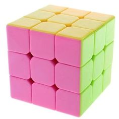 Amazon.com: New !! Stickerless Yj Moyu Yulong Plus 3x3x3 Speed Cube Puzzle, High Bright (Pink): Toys & Games