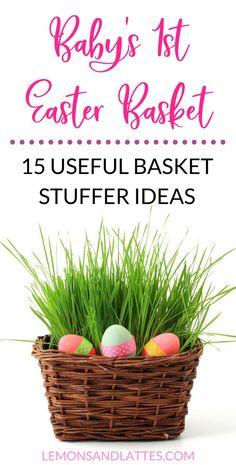 Easter basket ideas for babies easter gift ideas for baby 15 useful easter basket ideas for babies under 1 negle Image collections
