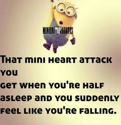 Mini heart attack gosh I thought that only happened to me! Minions Fans, Minions Love, Minions Quotes, Minion Humor, Funny Quotes, Funny Memes, Hilarious, Jokes, Minion Mayhem