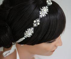 Bridal Headband Hair Jewelry Wedding hair by LuluSplendor on Etsy, $175.00