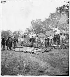 Burial of Soldiers - Fredericksburg, VA, May 1864