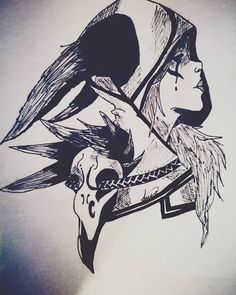 Xayah - League Of Legends by glup4o