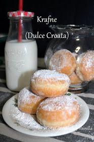 Krafne  (Dulce Croata) Pan Dulce, Empanadas, Pretzel Bites, Scones, Donuts, Muffins, Deserts, Good Food, Gluten