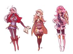 some cute fe:conquest ladies. nina, ophelia, and soleil. this game has taken over my free time