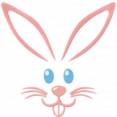 Easter pink bunny free embroidery design
