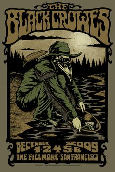 The Black Crowes - gig poster - Alan Forbes