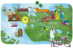 Mumbai map - Ilustrista