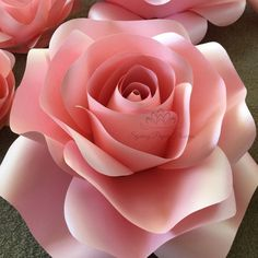 Pink paper rose by vera paper flowers and other paper crafts this listing is for one flower only pictured roses in baby pink peach mightylinksfo
