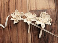 Rustic Romantic Preserved Solo Flower / Balsa wood real flower alternative boutonniere and corsages created custom for my by designer Curious Floral Crafts - on Etsy https://www.etsy.com/shop/CuriousFloralCrafts?ref=l2-shop-info-name