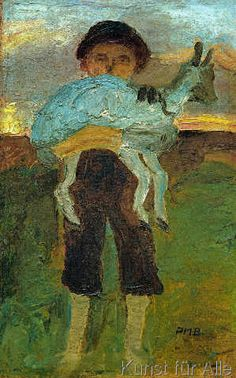 Paula Modersohn-Becker - Junge mit Ziege