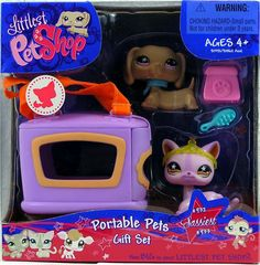 Littlest Pet Shop #932 and #933 Portable Pets Dog and Cat:Amazon:Toys & Games