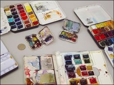 Roz Round Up                                             Travel Palettes for Watercolor and Gouache