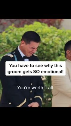Watch the sweetest groom's reaction to his bride walking down the aisle!
