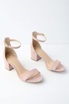 ab3dd99c1b4 Chic Nude Sandals - Single Sole Heels - Block Heel Sandals