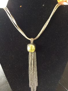 Repurposed Premier necklace and pendant. Long
